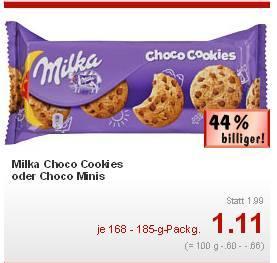 [Lokal] Kaufland München, Passau, Bad Tölz... -> Milka Choco Cookies oder Choco Minis für 0,11€ [weitere Filialen: 0,29€]
