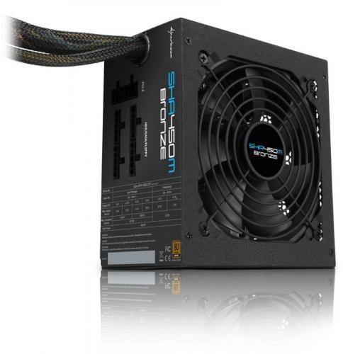 """Sharkoon™ - 450 Watt PC-Netzteil """"SHA450-12EUP""""  für €29,99 [@ZackZack.de]"""