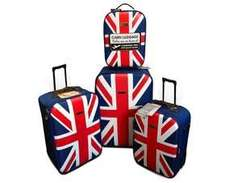 Trolley 4er Set - UK deSiGn Reisekofferset - Union Jack für 59,99 €, vk-frei