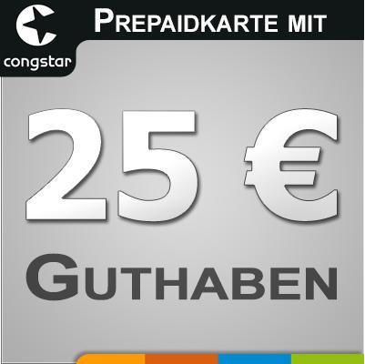 Congstar Prepaid mit 25 Euro Guthaben!!