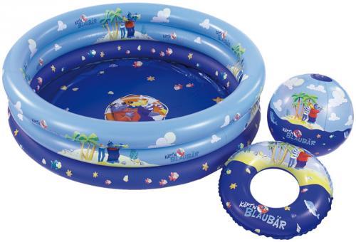 Käptx27n Blaubär - 3tlg. Pool-Set (Planschbecken, Ball, Schwimmreifen) für €4,99 [@Tegut-Ideenwelt.com]
