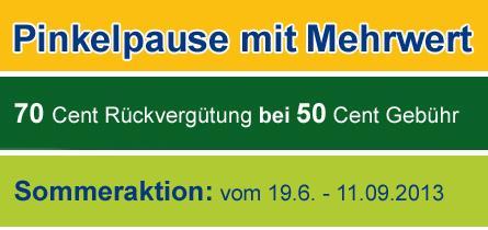 70 Cent Rückvergütung pro Toilettengang auf dt. Autohöfen