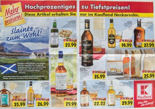 [LOKAL] Scotch Whisky-Angebote @ Kaufland Neckarsulm