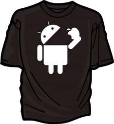 "(UK) Android ""Eating Apple"" T-Shirt in diversen Farben für 11,69€ inkl. Versand @ Ebay"