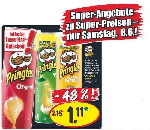 Pringles mit Whopper Junior Gutschein @ Lidl Bundesweit für 1,11€ (Super Samstag 08.06.2013)