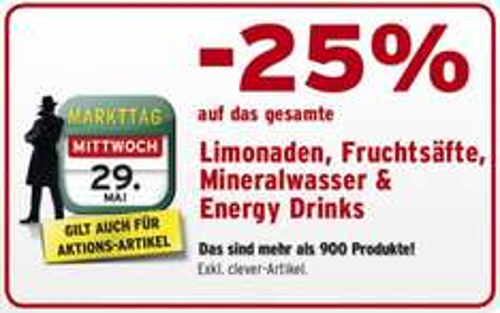 AT - Merkur: nur heute -25% auf Energy Drinks - zB. Monster um 74ct