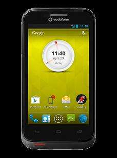 Vodafone Smart III Schwarz - Smartphone mit Jelly Bean, 4 Zoll Display (800x480 Pixel), NFC