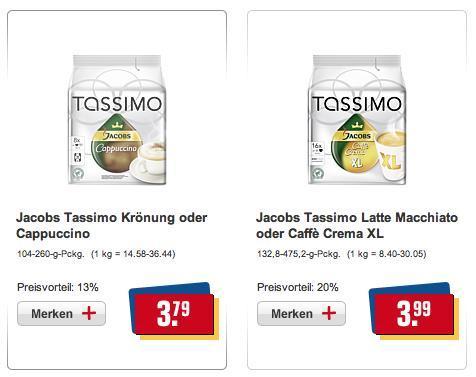 [REWE] Tassimo T-Discs 3,79 / 3,99 € diverse Sorten
