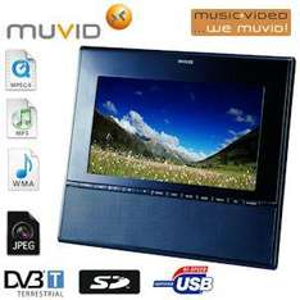 Muvid TVF-100-1 25,4cm/10 Zoll LCD-TV (DVB-T) mit digitalem Fotorahmen und UKW Radio