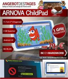 Archos Arnova Child Pad 4GB 17,78cm Kapazitiv 1GHz 4GB Speicher Android 4.x