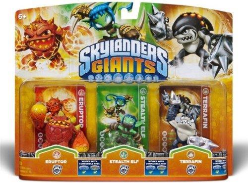 (Amazon) Skylanders: Giants - Triple Pack F: Eruptor, Stealth Elf, Terrafin