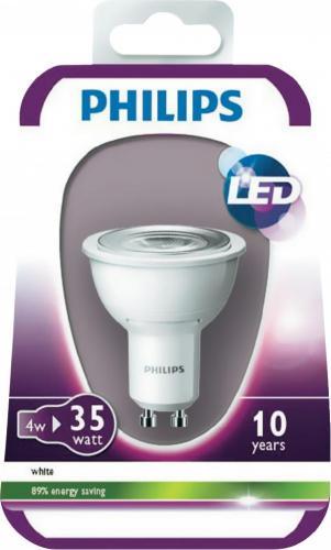 [voelkner] 4 x Philips LED-Leuchtmittel GU10 4W 3000 K für 25,32 € inkl. Versand