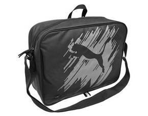 PUMA Schultertasche Echo Messenger Bag schwarz für 17,46 €, vk-frei mit 9PROZENT