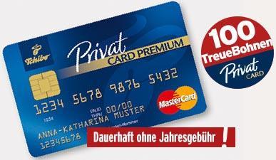 [Tchibo] 100 TreueBohnen und ggf. 2x5€ Gutscheine | bei Abschluss einer kostenlosen PrivatCard Premium Kreditkarte | einlösbar für viele Prämien | auch für Bestandskunden!