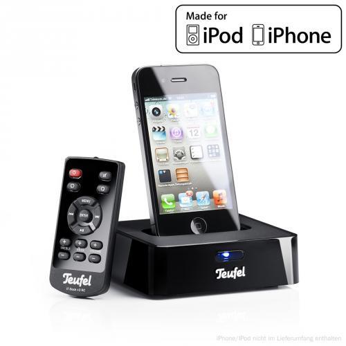 iTeufel Dock v3 Schwarz inkl. Fernbedienung iPod/iPhone bis 4G für 44,44€