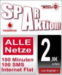 Vodafone Basic 100 Spar (100 Min/100 SMS/200mb bis 7,2mbit) für 2,99€/Monat