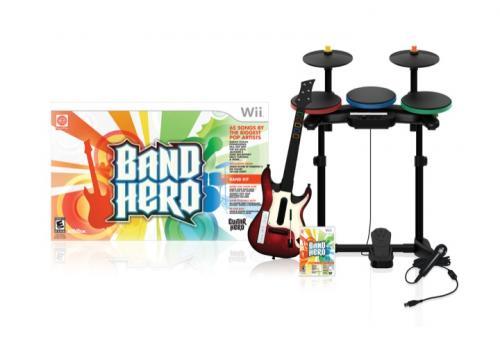 Band Hero Bundle (XBOX oder PS3) mit Drums, Mic und Gitarre für ~ 37€ @ game.co.uk