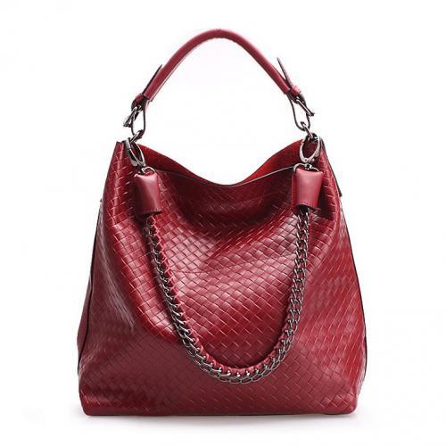 Aus echtem Leder Damen Umhängetasche / Leder Handtasche / Lady Schultertasche Handbag Bag in rot