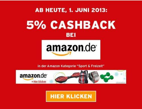 """5% Cashback bei Amazon in der Kategorie """"Sport & Freizeit"""" von Andasa"""