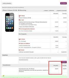 Vodafone RED M + IPhone 5 direkt von www.vodafone.de