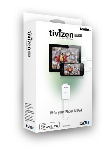 ICUBE Tivizen Pico DVB-T Empfänger für Apple iPhone/iPad für 33€