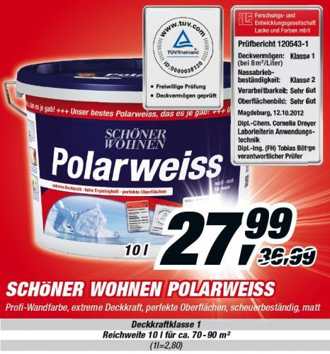 Schöner Wohnen Polarweiss 10 Liter @Toom Baumarkt