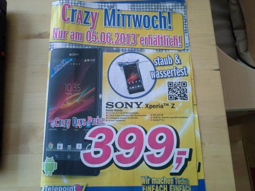 LOKAL-VEC nur am 05.06: Sony Xperia Z im Telepoint