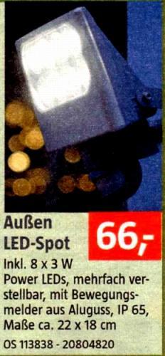 LED - Außenstrahler mit Bewegungsmelder bei Bauhaus