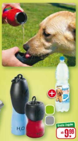 Edelstahl Trinkflasche für Hunde - H2O4K9 - 250ml für 9,99€ - 750ml für 14,99€ [Bundesweit offline @ Fressnapf ab 03.06.]