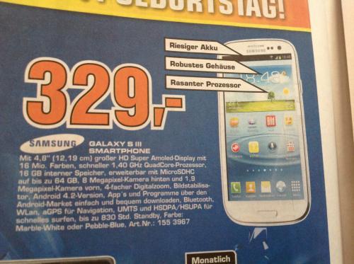 Lokal Saturn Bremen Habenhausen +++ Galaxy S3 blau, weiss 329€ +++ Iphone 4 weiss 8 gb 299€