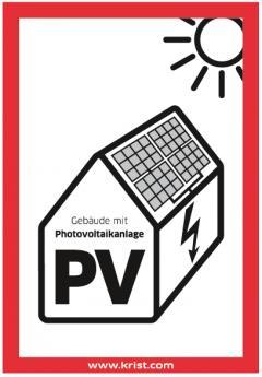 Feuerwehraufkleber für Photovoltaikanlagen kostenlos