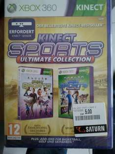 Schweiz: lokal Saturn Volketswil: XBOX 360  Kinect Sports Ultimate Collection 5 CHF