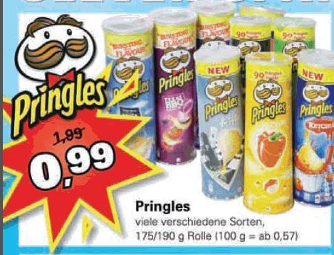 [Lokal] [Knüller] Pringles, versch. Sorten 175/190g für 99 Cent