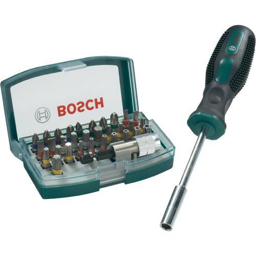 Bosch 32-tlg. Schrauberbit-Set + Handschraubendreher + Der Hobbit (beides wieder da) + USB Car Charger (MBW 20 €) + 11 Cent Füllartikel für 15 €