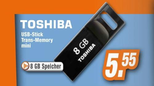 Toshiba Trans-Memory mini USB-Stick 8 GB