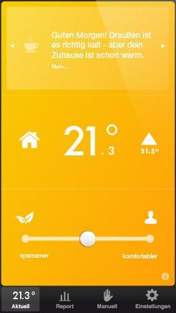 Tado intelligente Heizungssteuerung für iOS und Android