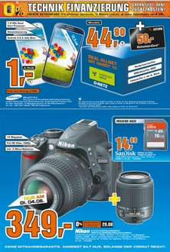 Saturn Köln Nikon D3100 Doppelzoomkit