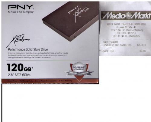 Lokal MM Berlin PNY XLR8 SSD 120GB SATA 6Gb/s - 60 Euro.