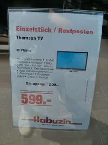 [lokal Köln-Porz] Thomson TV 55 FT5643 (140 cm LED-Fernseher, 55 Zoll) für 599€