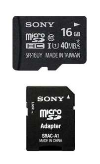 Sony High Speed microSDHC Speicher Karte 16 GB class 10 + SD Adapter für 12€ @Getmobile
