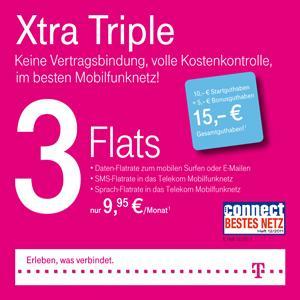 Telekom XtraCards mit 15,00 € Startguthaben im Tarif Xtra Triple