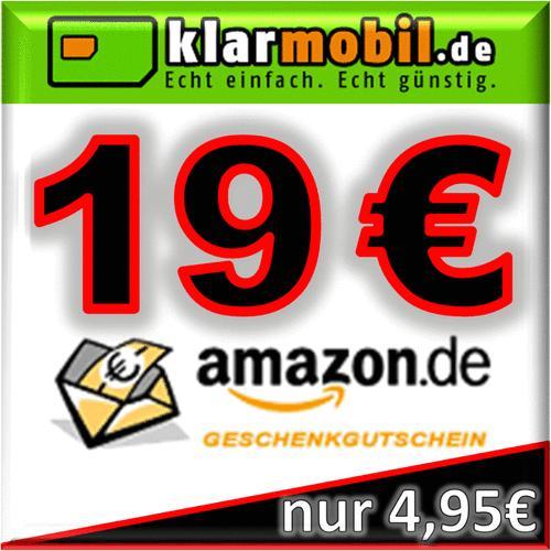 Schubladenpostpaid mit 15 € Startguthaben + 19 € Amazon GS (Klarmobile)