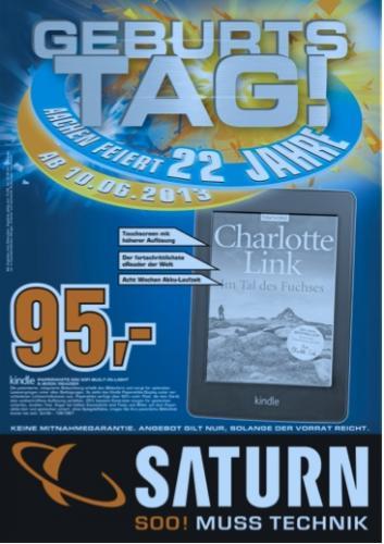 22 Jahre Saturn Aachen [Lokal]: Kindle Paperwhite, PS 3, 3 TB Seagate HDD, Galaxy S3, Senseo, ...