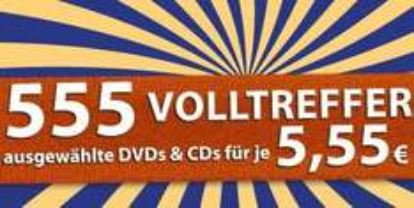 [Müller] 555 CDs und DVDs für je 5,55 Euro