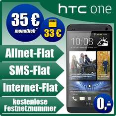 HTC ONE 32GB incl. Base all Net Vertrag