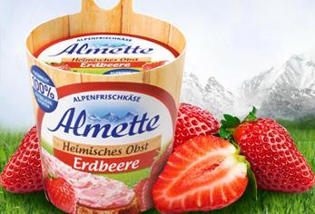 Almette Erdbeere (Frischkäse) kostenlos durch Cashback Aktion