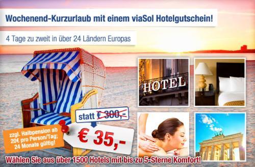 3 Tage zu zweit in über 24 Ländern Europas für 35€