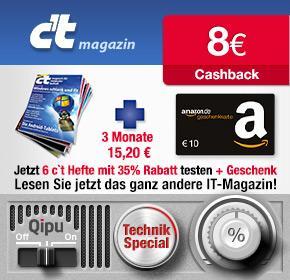 [Wieder da - Qipu] c't Magazin - 6 Ausgaben mit effektiv 1,50€ Gewinn