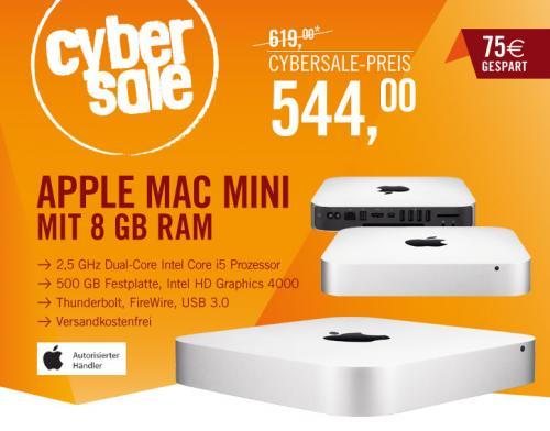 Apple Mac mini 2,5 GHz Intel Core i5 mit 8 GB für 544,00