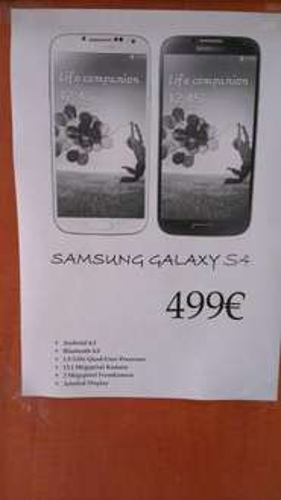 Samsung Galaxy S4 für 499€ in Bochum!